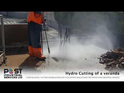 Hydro Cutting of a veranda