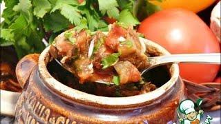 Картошка в горшочках , запечённая в духовке с охотничьими колбасками