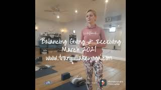 Balance Giving with Receiving