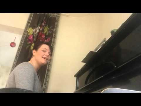 Anette Olzon covers Human by the piano