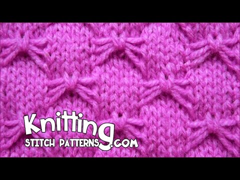 Butterfly Stitches In Knitting : Butterfly Bowknot stitch - YouTube