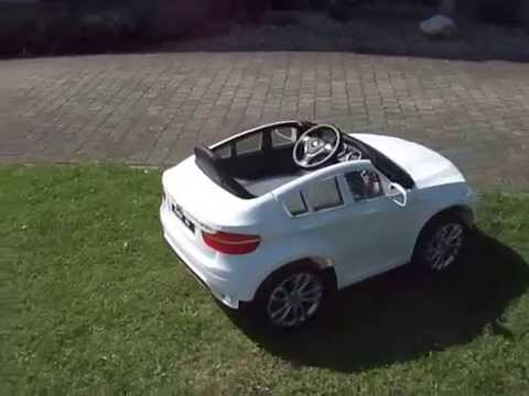 kinder accu auto bmw x6 wit 12v youtube. Black Bedroom Furniture Sets. Home Design Ideas