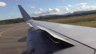 VH-VOB Virgin Blue Take off OOL Gold Coast Airport Boeing 737-800 MELBOURNE
