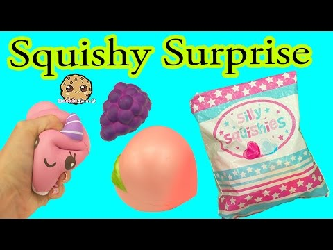 Random Surprise Lot of Silly Squishies Squishy Package Cookieswirlc Video