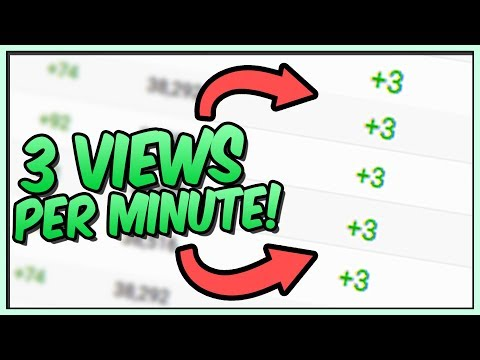 How To Get 3 Views PER MINUTE on YouTube 2017
