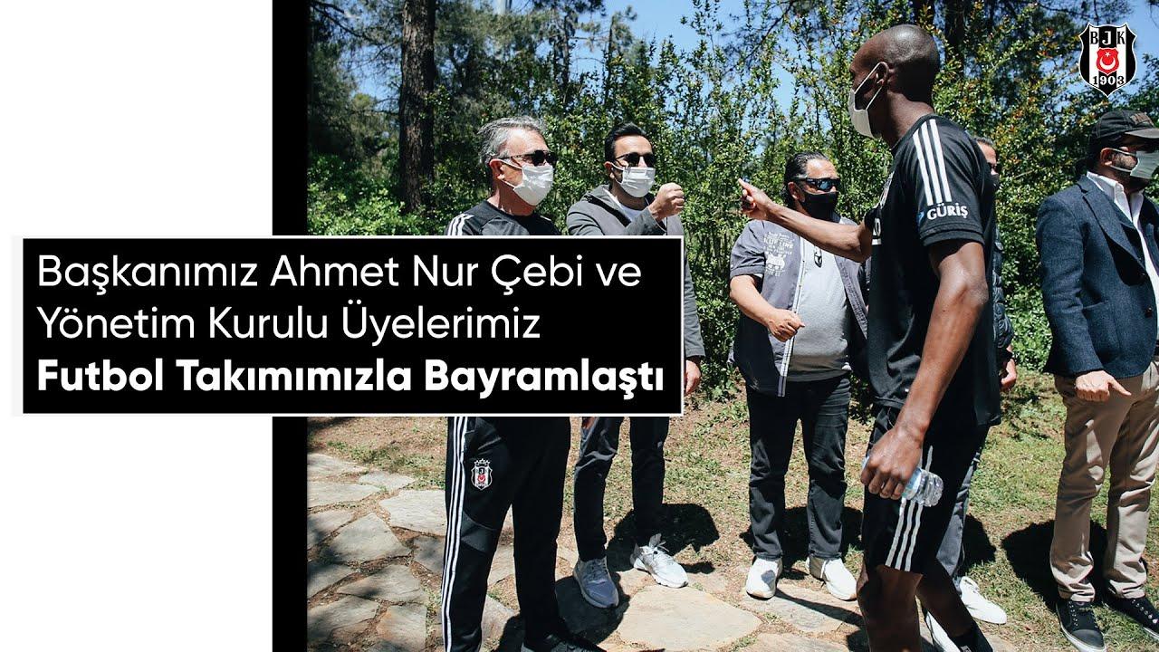 Başkanımız Ahmet Nur Çebi ve Yönetim Kurulu Üyelerimiz, Futbol Takımımızla Bayramlaştı