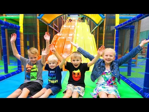 Indoor Play Center with HUGE FAST SLIDE!!