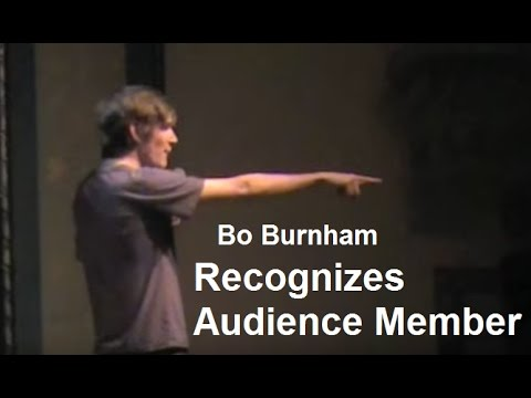 Bo Burnham | Recognizes Audience Member