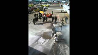 Chicago Airport (ORD) Truck Fire on 02/20/16