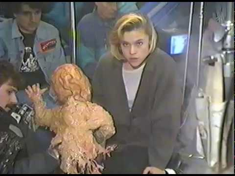 Child's Play 2   BTS  Christine Elise Fends Off Melted Chucky