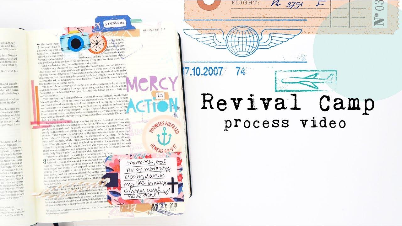 Revival Camp Bible Journaling Process Video