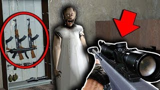 NEW HIDDEN WEAPONS in Granny Horror Game! (GUN MOD in Granny Mobile Horror Game)