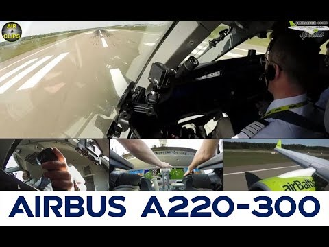 Silent but powerful: CS300 Takeoff Air Baltic out of Riga bound for Paris CDG! [AirClips]