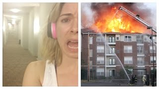 Fire In The Apartment Complex