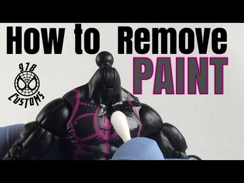 """HOW TO: Remove factory paint on Marvel Legends Spider-Man 6"""" action figures"""
