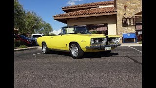 1967 Plymouth Barracuda Convertible in Yellow & Custom Engine Sound My Car Story with Lou Costabile