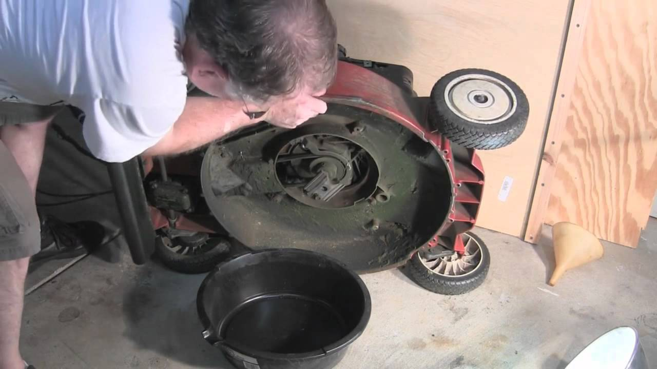 How To Change Oil In A Lawn Mower Youtube