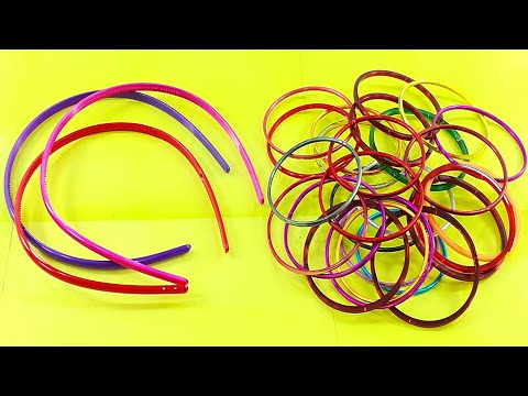 Best crafting Out of hair band & old bangles reuse idea | DIY arts and crafts | Amazing craft idea