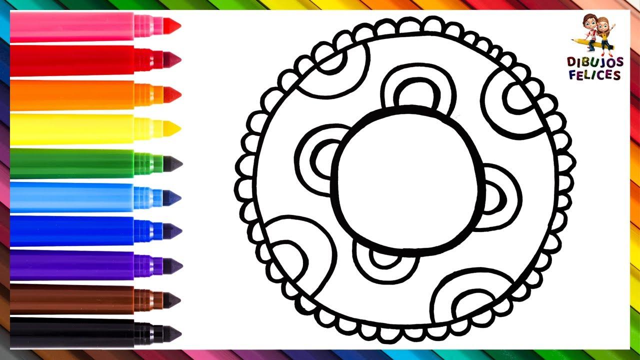 Dibuja y Colorea Un Flotador Arcoiris ⭕🌊⛱️🌈 Dibujos Para Niños