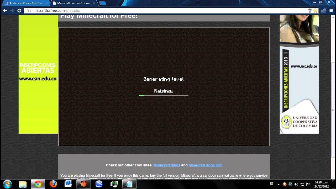 jugar minecraft sin descargar online