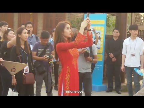 [지연] T-ara Jiyeon & Soyeon at Aodai Museum Dist 9 HCMC, Viet Nam