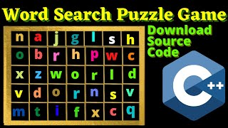 Program to make Words Search Puzzle game in C++ | Complete Explanation with source code screenshot 5
