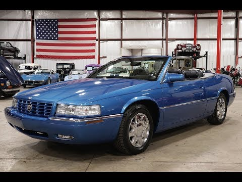 1998 cadillac eldorado convertible blue youtube 1998 cadillac eldorado convertible blue
