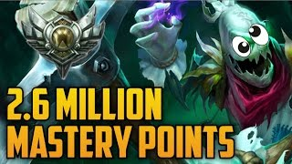 Support Silver FIDDLESTICKS 2,600,000 MASTERY POINTS- Spectate Highest Mastery Points on Fiddle