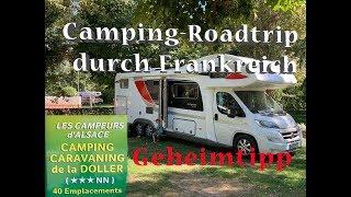 "Mit WOHNMOBIL mautfrei durch Frankreich - Familien-Camping-Geheimtipp: ""Camping de la Doller"""