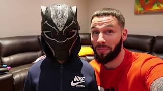 Super Kam Transforms into Black Panther Super Hero!
