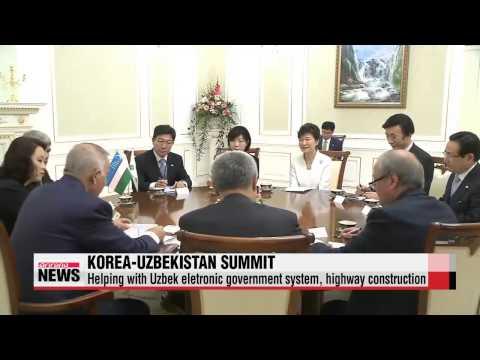 Leaders of Korea, Uzbekistan agree to expand economic cooperation