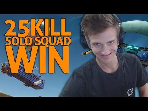 Amazing 25 Kill Solo Squad Win - Fortnite Gameplay - Ninja