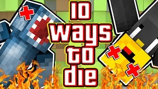 10 WAYS TO DIE IN MINECRAFT! - W/AshDubh