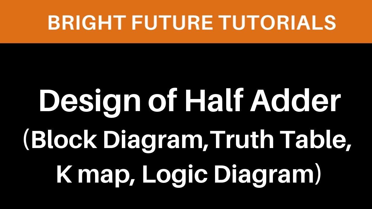 Design Of Half Adderblock Diagramtruth Tablek Maplogic Diagram Block