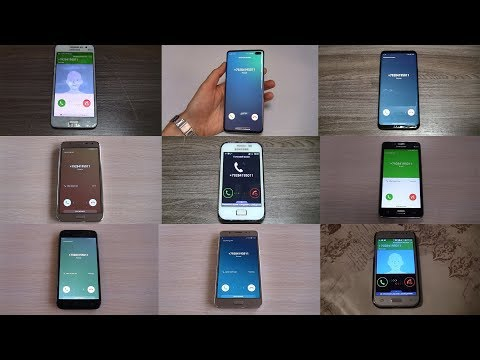 All My SAMSUNG PHONES Incoming Calls