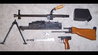 uk vz 59 belt fed rifle assebmbly disassembly part 1 7 62 x 54r