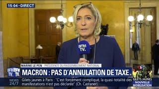 Gilets Jaunes: Marine Le Pen a le sentiment que