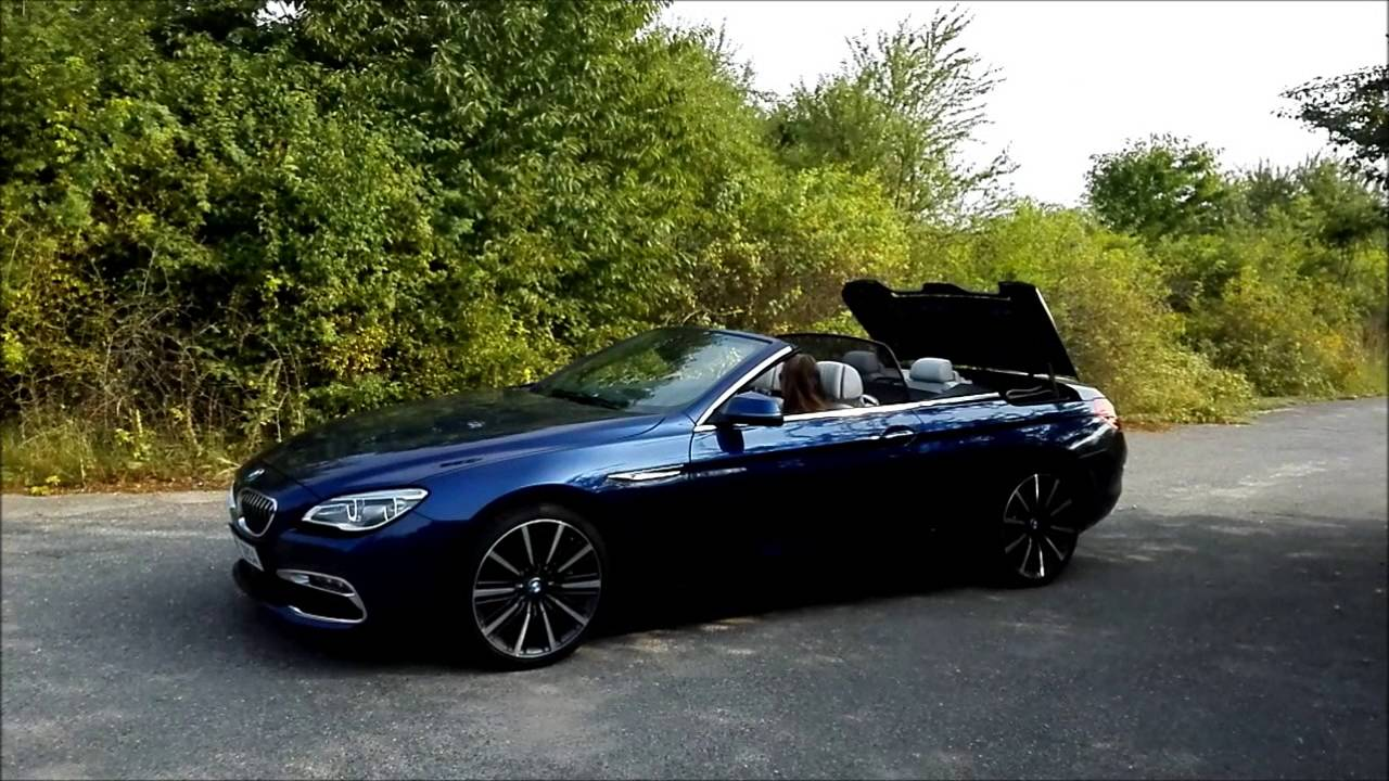 bmw 640d cabrio f12 roof up down youtube. Black Bedroom Furniture Sets. Home Design Ideas
