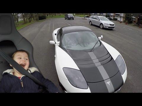 Tesla Roadster - a driver