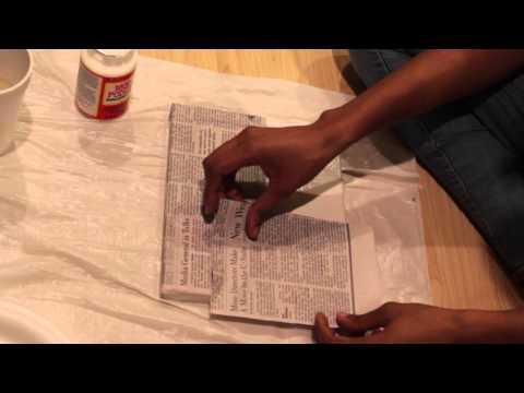 DIY: Newspaper Art