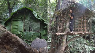 Huts Building - 365 Days Adventure in the Southeast Asian Rainforest - Episode 1