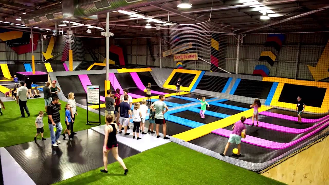 Bounceinc thailand awesome fun at bounce australia youtube for Indoor trampoline park design manufacturing