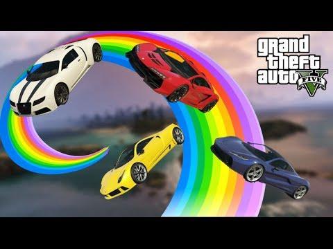 🏁Extrem Rainbow Spirale | GTA V Online Custom Map #369