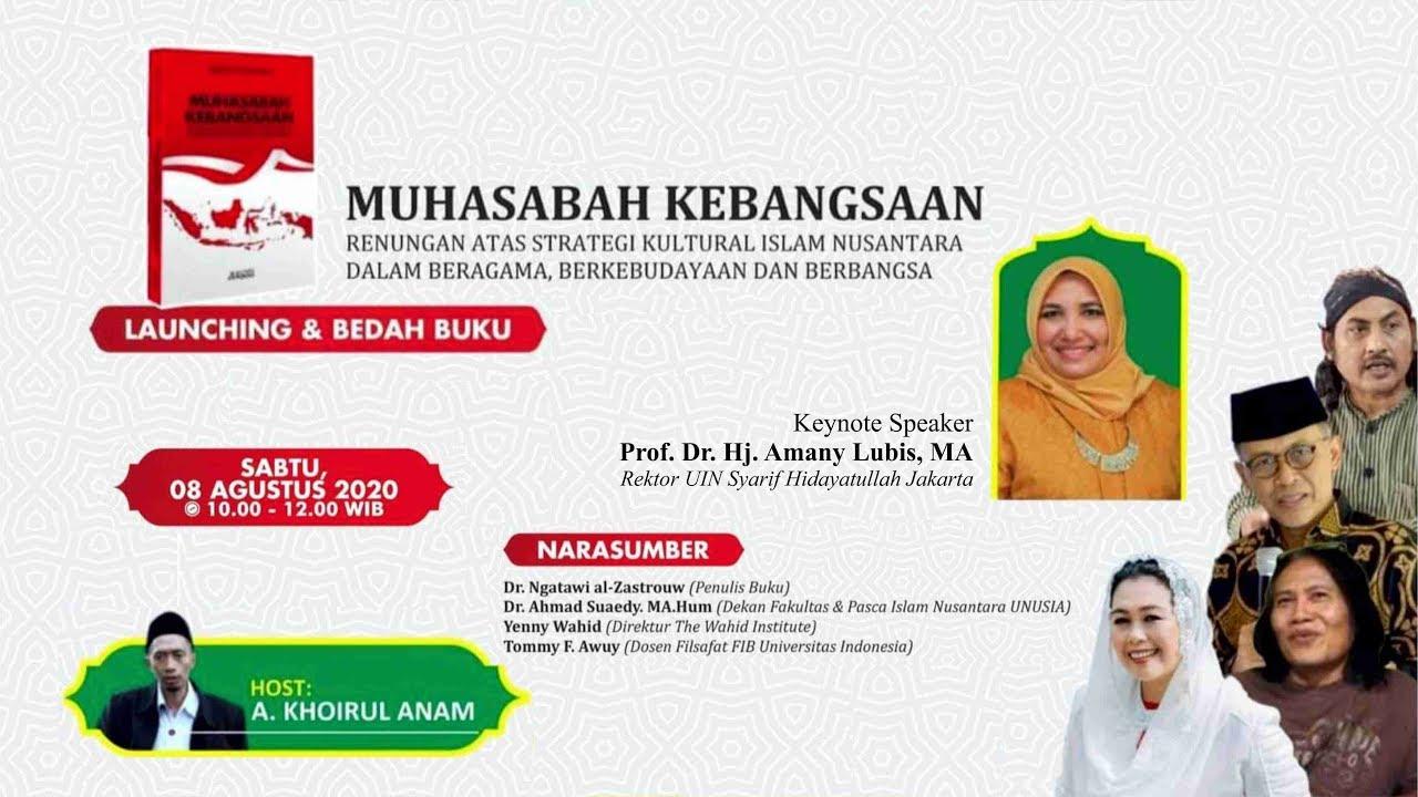 🔴 (LIVE) Renungan atas Strategi Kultural Islam Nusantara dalam Beragama