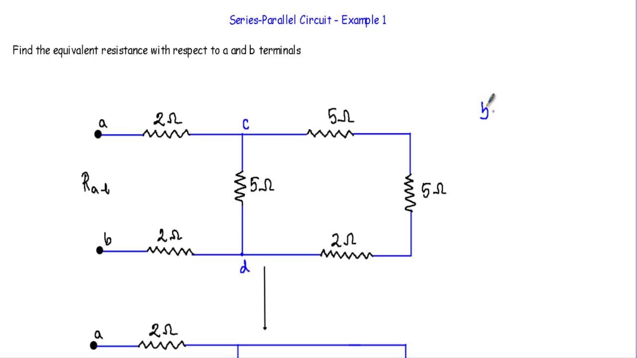 equivalent resistance of series parallel circuit 1 youtube rh youtube com to learn to calculate the equivalent resistance of the circuits calculate the equivalent resistance of the circuit below