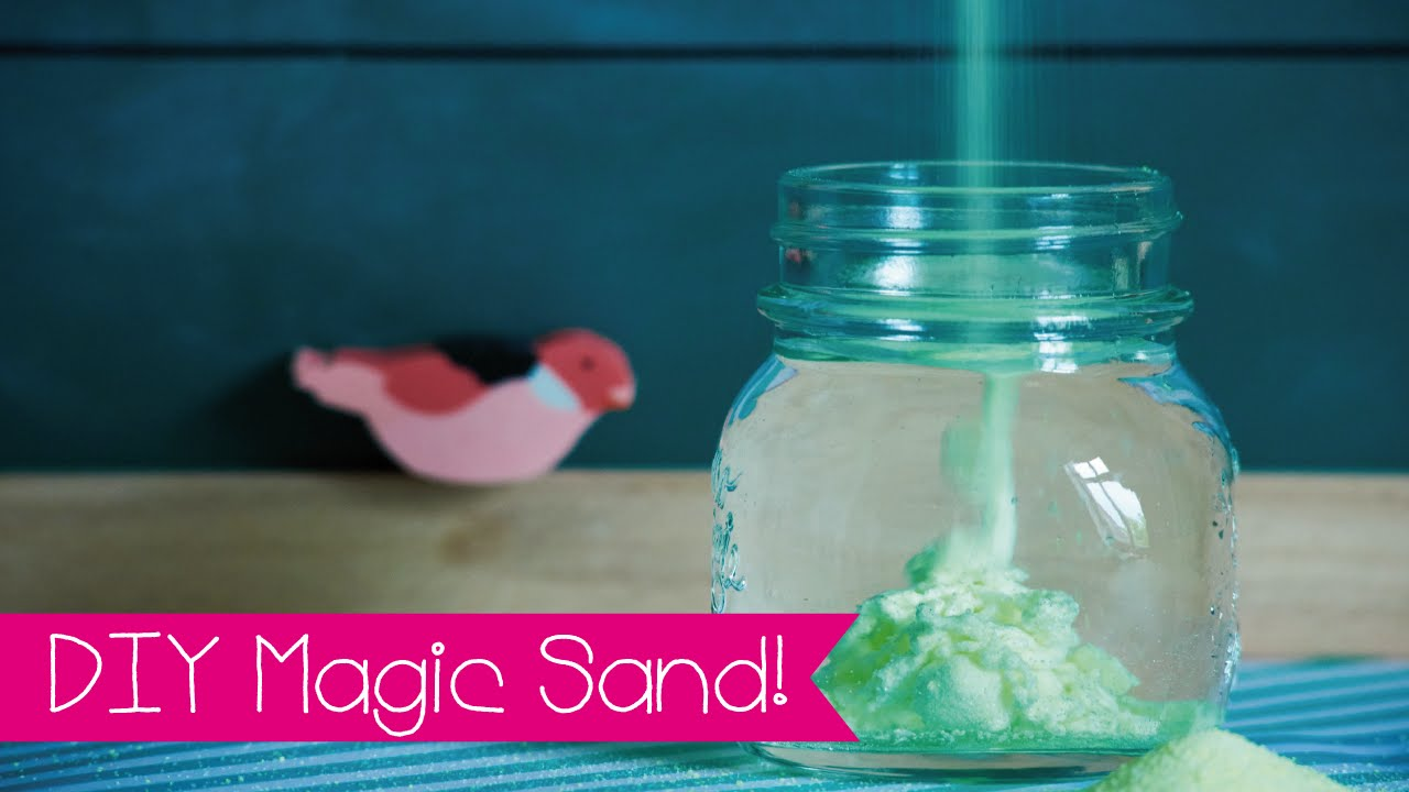 Diy Magic Sand Selber Machen I Aqua Sand I Magischer Sand Youtube