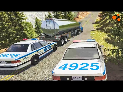 Beamng drive - Police Chases Take Down #2 (real sounds, interception crashes)