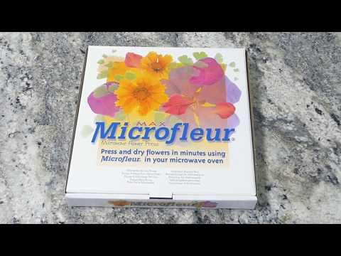 Using the Microfleur Microwave Flower Press