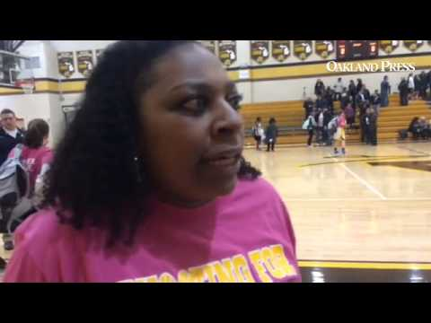Rochester Adams girls basketball coach Shay Lewis talks about the win over  Stoney Creek @MIPrepZone
