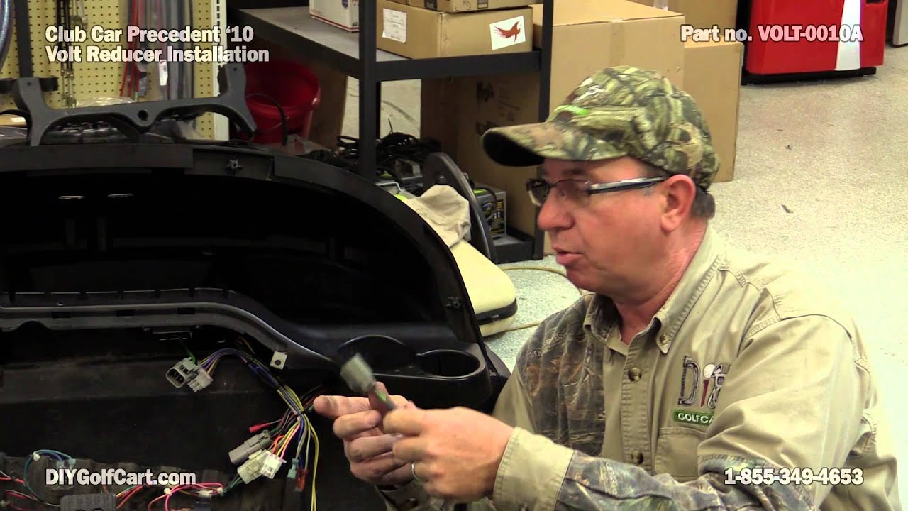 club car precedent voltage reducer how to install on golf cart [ 1280 x 720 Pixel ]